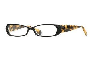Carmen Marc Valvo CM Grable SECM GRAB00 Single Vision Prescription Eyewear - Black Tortuga SECM GRAB005440 BK