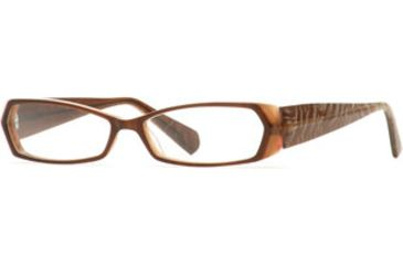 Carmen Marc Valvo CM Grable SECM GRAB00 Single Vision Prescription Eyewear - Cocoa Brulee SECM GRAB005440 BN