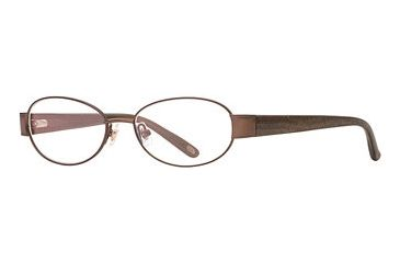 Carmen Marc Valvo CM Pauletta SECM PAUL00 Single Vision Prescription Eyewear - Bronze SECM PAUL005335 GO