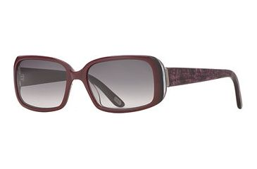 Carmen Marc Valvo CM Selena SECM SELE06 Single Vision Prescription Sunglasses SECM SELE065540 PU - Lens Diameter: 55 mm, Frame Color: Plum