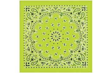 Carolina Manufacturing Neon Paisley Bandana Green B22NEO-100634