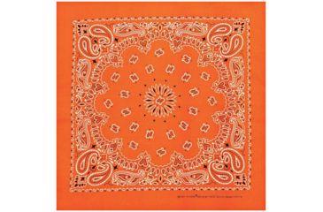 Carolina Manufacturing Neon Paisley Bandana Orange B22NEO-100633