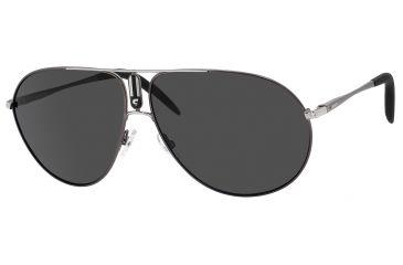 Carrera 44/P/S Sunglasses CA44PS-0MWN-RA-6111 - Semi Matte Dark Ruthenium Frame, Gray Polarized Lenses, Lens Diameter 61mm, Distance Between Lenses 11mm