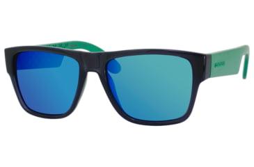 Carrera 5002/S Sunglasses CA5002S-0B4Y-Z9-5517 - Transparent Gray / Ml Green Frame, Black Mirror Lenses, Lens Diameter 55mm, Distance Between Lenses 17mm