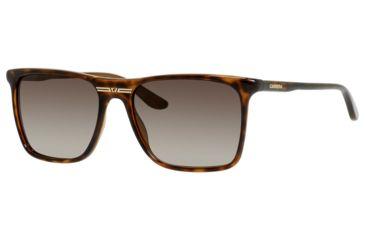 Carrera 6012/S Progressive Prescription Sunglasses CA6012S-0DWJ-HA-5517 - Frame Color Havana, Lens Diameter 55 mm