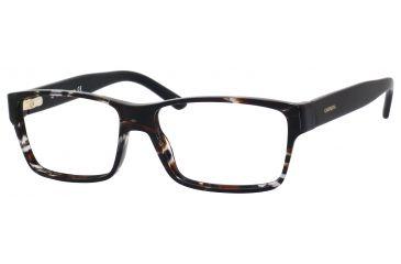 Carrera 6178 Single Vision Prescription Eyeglasses CA6178-08Q0-5615 - Havana Gray / Black Frame, Lens Diameter 56mm, Distance Between Lenses 15mm