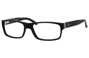 Carrera 6180 Eyeglass Frames CA6180-0OFZ-5517 - Matte Black / Black White Frame, Lens Diameter 55mm, Distance Between Lenses 17mm