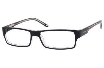 Carrera 6184 Single Vision Prescription Eyeglasses CA6184-07C5-5215 - Black Crystal Frame, Lens Diameter 52mm, Distance Between Lenses 15mm