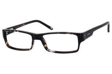 Carrera 6184 Single Vision Prescription Eyeglasses CA6184-08Q0-5215 - Havana Gray Black Frame, Lens Diameter 52mm, Distance Between Lenses 15mm