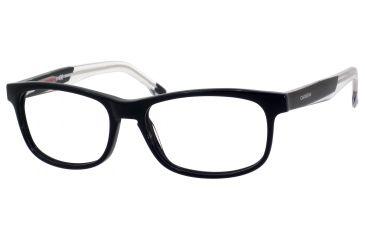 Carrera 6196 Progressive Prescription Eyeglasses CA6196-0RVU-5216 - Black / Black Crystal Frame, Lens Diameter 52mm, Distance Between Lenses 16mm