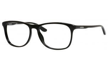db4bddd186 Carrera 6622 Single Vision Prescription Eyeglasses CA6622-0D28-5516 - Shiny  Black Frame,