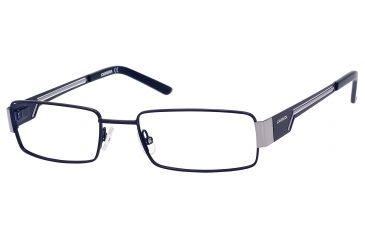 Carrera 7528 Single Vision Prescription Eyeglasses CA7528-0KU0-5218 - Matte Blue / Ruthenium Frame, Lens Diameter 52mm, Distance Between Lenses 18mm