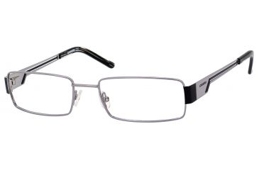 Carrera 7528 Single Vision Prescription Eyeglasses CA7528-0MMK-5218 - Ruthenium / Black Frame, Lens Diameter 52mm, Distance Between Lenses 18mm