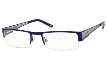 Carrera 7548 Single Vision Prescription Eyeglasses CA7548-086I-5320 - Matte Blue / Ruthenium Frame, Lens Diameter 53mm, Distance Between Lenses 20mm