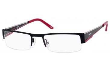 Carrera 7548 Single Vision Prescription Eyeglasses CA7548-0IAM-5320 - Black Red Frame, Lens Diameter 53mm, Distance Between Lenses 20mm