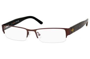 Carrera 7594 Progressive Prescription Eyeglasses CA7594-0JBQ-5218 - Matte Dark Brown Frame, Lens Diameter 52mm, Distance Between Lenses 18mm