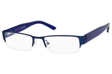 Carrera 7594 Progressive Prescription Eyeglasses CA7594-0JCC-5218 - Matte Dark Blue Frame, Lens Diameter 52mm, Distance Between Lenses 18mm