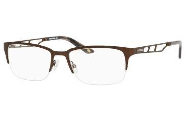 Carrera 7601 Single Vision Prescription Eyeglasses CA7601-05BZ-5218 - Matte Chocolate Frame, Lens Diameter 52mm, Distance Between Lenses 18mm