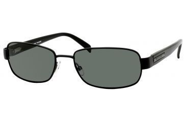 Carrera Benchmark/S Sunglasses BENCHS-91TP-RC-5718 - Black Semi Matte Frame, Green Polarized Lenses, Lens Diameter 57mm, Distance Between Lenses 18mm