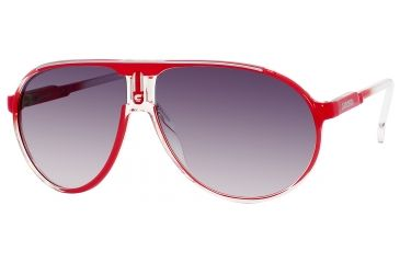 Carrera Champion/C/S Sunglasses CHAMPCS-0KYN-JJ-6212 - Red Crystal Shaded Frame, Gray Gradient Lenses, Lens Diameter 62mm, Distance Between Lenses 12mm