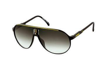 9434b94f75e0 Carrera Champion Sunglasses - Black Yellow Frame, Green Gradient Lenses  CHAMPLS0CD3YR