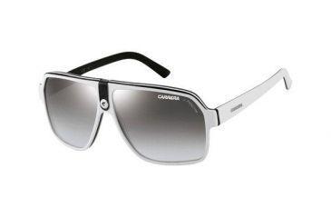 Carrera 33S Sunglasses - White Black Gray Frame, Gray Mirror Gradient Silver Lenses CA33S0NN7IC
