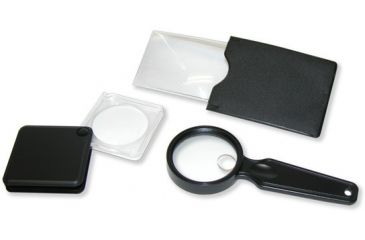 Carson 3PC Value Pack, Credit Card Sized Magnifier, Flip-Open Magnifier, Hand Held Magnifier VP-01