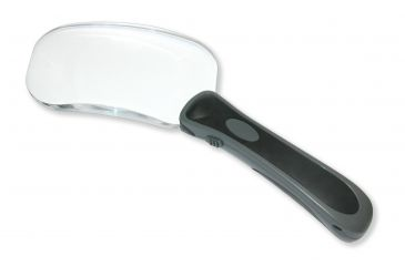 Carson Lighted Rectangle RimFree 2x Magnifier w/ bright white LEDs RM-77