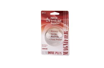 Carson LumiDome Plus 2x Polished Ball Loupe with 75mm base LD-75