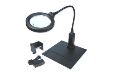 Carson MagniFlexPro 2x LED Lighted Magnifier w/ 4x Spot Lens, Black CP-90