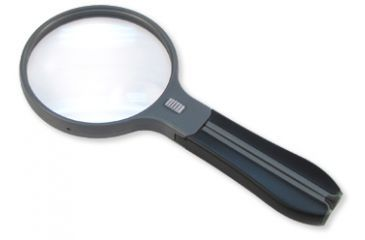 Carson SplitHandle 2x/3x Magnifying Glass, Black HF-11