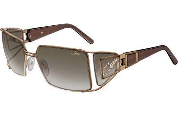 Cazal 9002 Sunglasses, Gold-Brown Frame