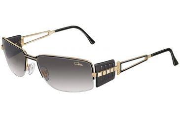 Cazal 9009 Sunglasses - 302 Black-Gold/Gradient Grey Lenses