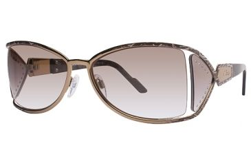 Cazal 9010 Sunglasses - 123 Mottled Brown Frame, Rose Brown Gradient Lenses