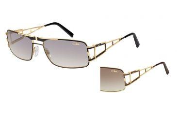Cazal Cazal 9043 Sunglasses, Brown-Gold, 61-17-135 9043-001