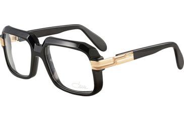 36ffac7f5f43 Cazal Eyeglasses 607 Black   Gold Frame   Clear Non Rx Lens ...