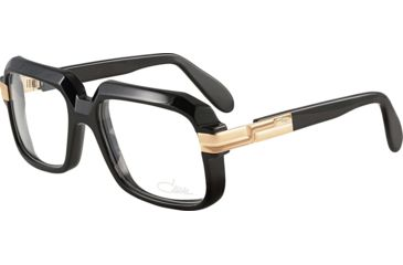 58bc5cab612 Cazal Eyeglasses 607 Black   Gold Frame   Clear Non Rx Lens ...