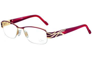 Cazal Womens 1055 Eyeglasses - Ruby Frame w/ Clear Lenses, Size 53-17-135 1055-003