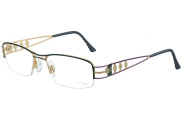 Cazal Womens 4189 Eyeglasses - Anthracite-Mint Frame w/ Clear Lenses, Size 50-17-130 4189-001