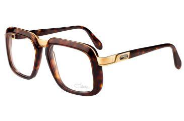 Cazal Womens 616 Eyeglasses - Demi Amber-Gold Frame w/ Clear Lenses, Size 53-20-140 616-007