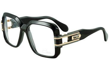 Cazal Womens 623 Eyeglasses -  Black-Gold Frame w/ Clear Lenses, Size 57-16-140 623-001