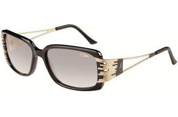Cazal Womens 8005 Eyeglasses -  Black Frame w/ Gray Gradient Lenses, Size 57-16-130 8005-001