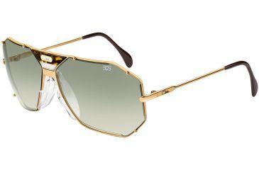 Cazal Womens 905 Eyeglasses -  Gold Frame w/ Brown Gradient Lenses, Size 65-12-135 905-097