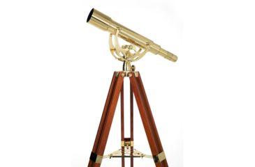 4-Celestron Ambassador 50mm 15-45x Brass/Mahogany Telescope