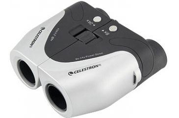 Celestron Electric Power Zoom Porro White/Gray 8-24x25 Binocular 72121