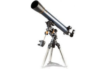 Celestron astromaster 90eq md refractor telescope with for Astromaster powerseeker motor drive