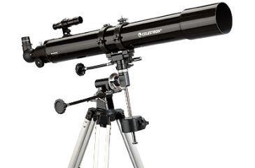 Celestron PowerSeeker 80EQ Refractor Telescope Black 21048