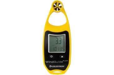 Celestron WindGuide Plus Anemometer, Yellow 48025