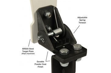 Challenge Targets Auto Reset Target, Black, Handgun, Plate - 12in Tall, 5in Diameter, 1/4in Th GS-ARP-80026-H