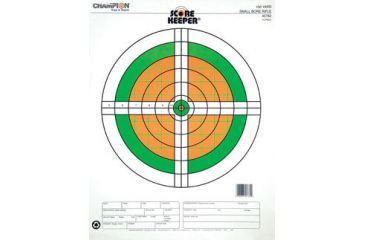 Champion Traps and Targets Fluorescent Orange & Green Bull, 100 Yd. Small Bore Rifle 12 Pk